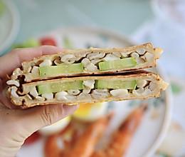 #夏日消暑,非它莫属#黄瓜乳酪蘑菇热压三明治的做法