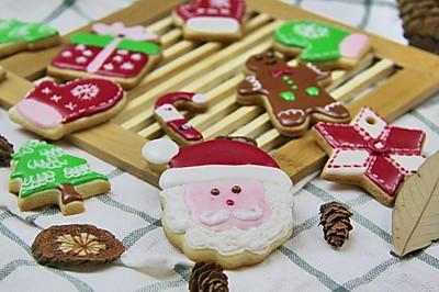 [圣诞节糖霜饼干]外观漂亮又易保存的糖霜饼干送给心爱的Ta!