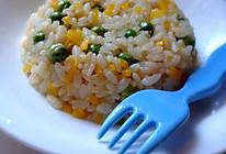 营养餐:甜椒豌豆虾仁炒饭~的做法