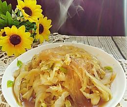 白菜炖粉丝#花家味道#的做法