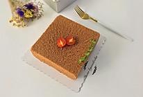 8寸方形可可戚风蛋糕的做法