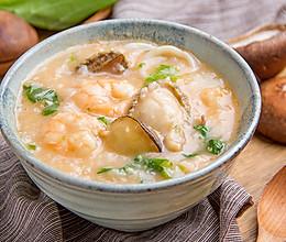 虾油海鲜粥的做法