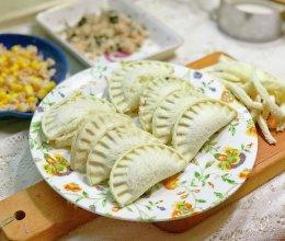 #馅儿料美食,哪种最美味#金枪鱼吐司饺子-手残党福音的做法