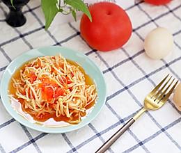 番茄烩金针菇,低脂好味零厨艺不失败#花10分钟,做一道菜!#的做法