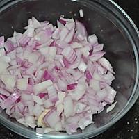 肉末洋葱双豆焖饭的做法图解2