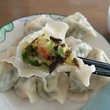 黄瓜木耳鸡蛋虾仁水饺