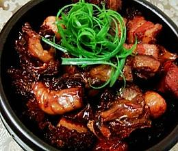 蒜子火腩炆河豚干的做法