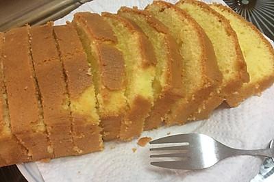 普通面粉做原味磅蛋糕