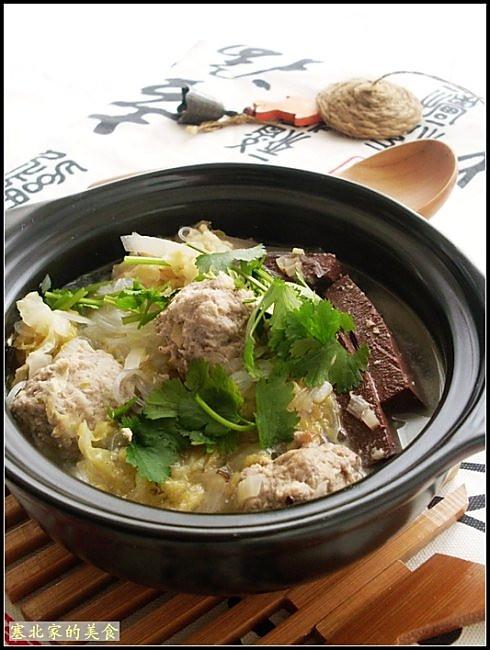 酸菜羊肉丸子的做法