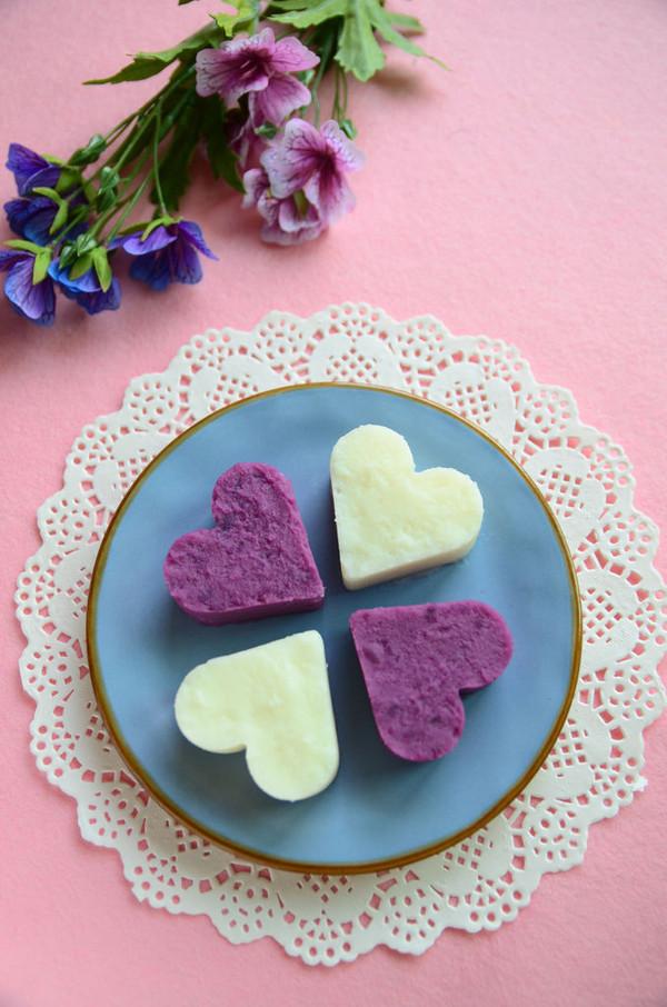 山药紫薯甜心的做法