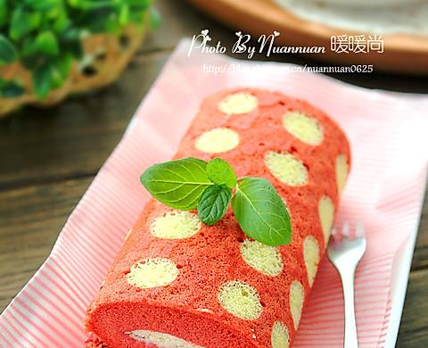 香润丝滑红丝绒波点蛋糕卷#长帝烘焙节#