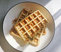 肉松华夫饼(三明治机版本)的做法