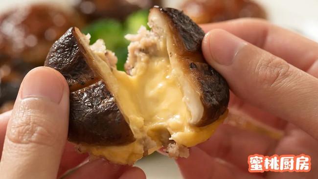 拉丝香菇塞肉的做法