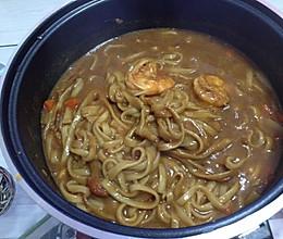 咖喱虾面的做法