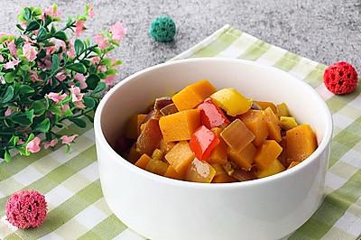 咖喱双椒炒南瓜-素食主义 拌饭菜