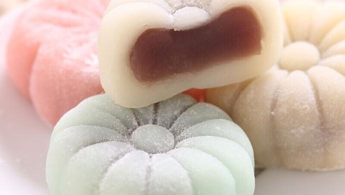 麻薯果子月饼做法,简单易做