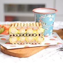 十分钟快手早餐|芝士年乳酪糕蟹柳滑蛋三明治