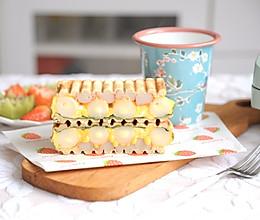 十分钟快手早餐 芝士年乳酪糕蟹柳滑蛋三明治的做法