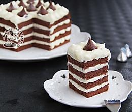 可可奶油kisses方蛋糕 的做法
