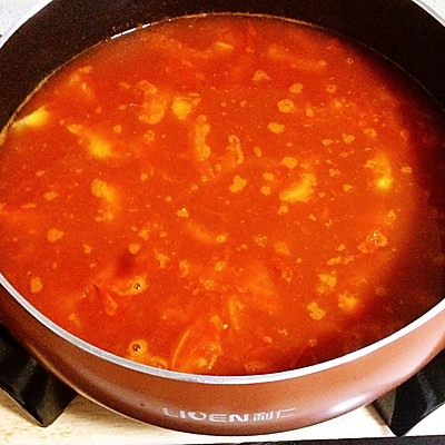 家常番茄汤底火锅——利仁电火锅试用菜谱