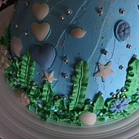海洋芭比蛋糕的做法图解14