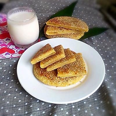 芝麻玉米饼。