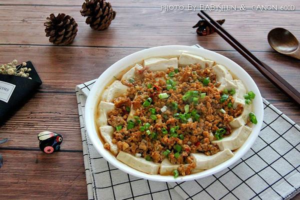 顺家私房菜——肉末蒸豆腐