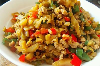 榨菜青红椒肉沫——乌江榨菜