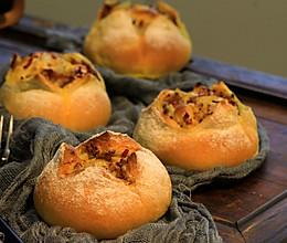 吃一口就被治愈,奶汁土豆培根面包的做法