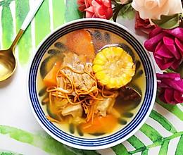 #秋天怎么吃#虫草花香菇胡萝卜玉米排骨汤的做法