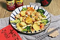 #味达美名厨福气汁,新春添口福# 三鲜日本豆腐炒虾仁的做法