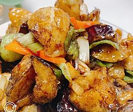 咸鲜微甜蒜香青椒味地三鲜的做法