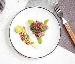 #精品菜谱挑战赛#沙朗牛排(椰子油版)的做法