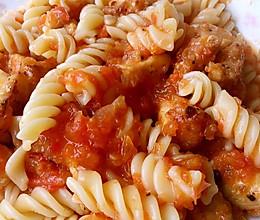 奶油番茄意面儿童餐—(解决宝宝不爱吃菜的秘方!)的做法
