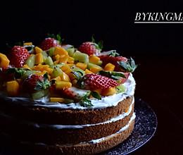 水果缤纷裸蛋糕的做法