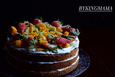水果缤纷裸蛋糕