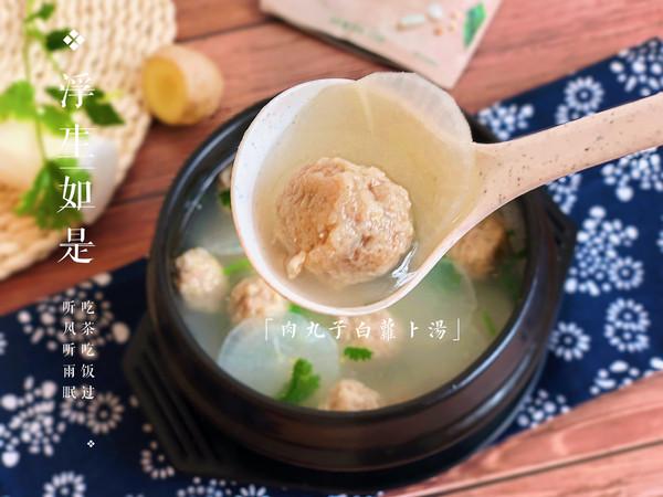 水汆丸子萝卜汤的做法