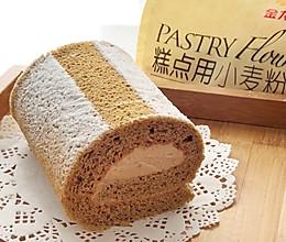 低糖无奶无油摩卡瑞士蛋糕卷的做法