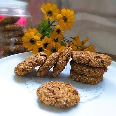 燕麦饼酥脆的秘诀--低卡亚麻籽燕麦代餐饼干