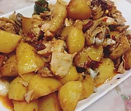 鸡肉炒土豆的做法