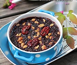 冬季滋补肝肾养生粥:【紫米核桃红枣甜粥】的做法