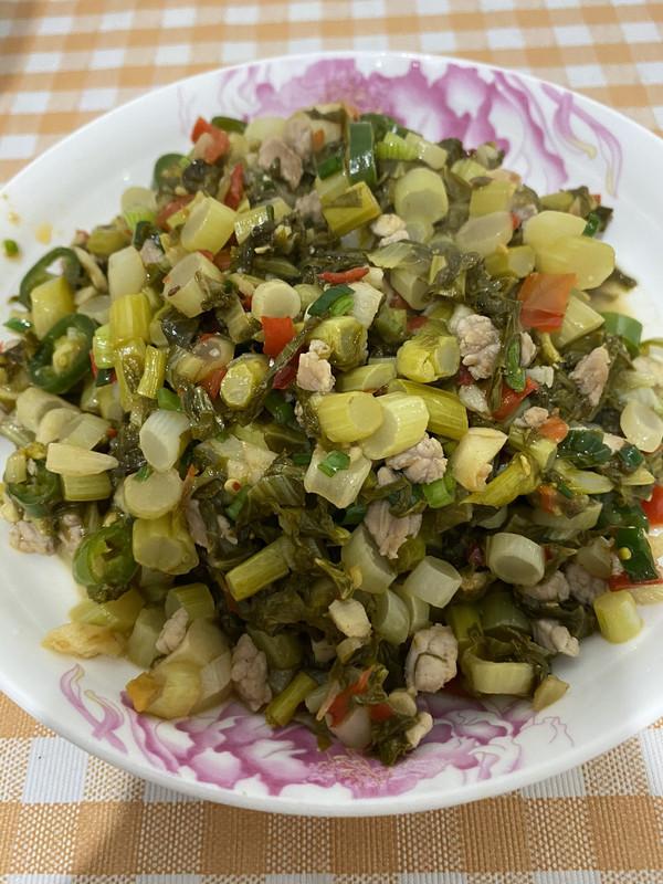 酸菜肉沫的做法