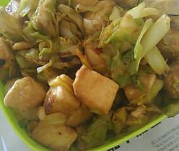 懒人食~白菜炒馒头的做法