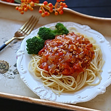 番茄肉酱意大利面#美的女王节#