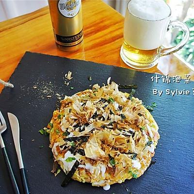 什锦泡菜大阪烧--平底锅电饼铛两种方法