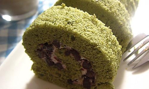 抹茶红豆蛋糕卷的做法