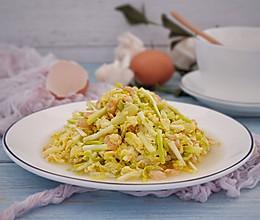 韭黄虾仁炒蛋的做法