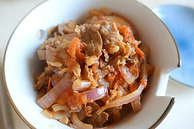红豆糙米饭.遇见.番茄牛丼❤️