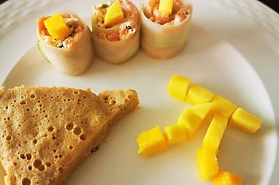 芒果轻乳酪蛋糕