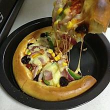 培根披萨  两个的量,自制披萨饼皮+披萨酱 (一)